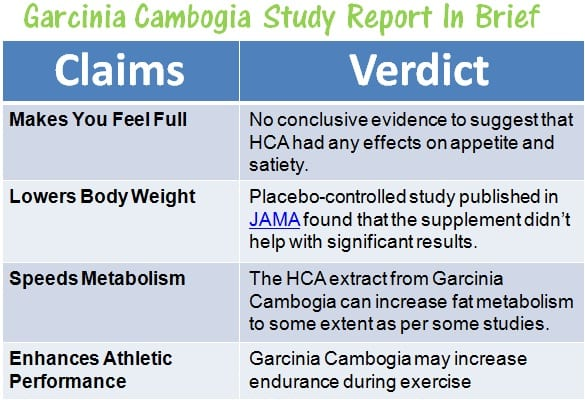 Garcinia Cambogia Results According To Studies