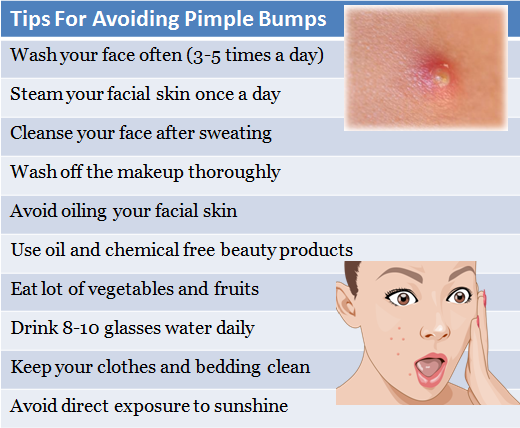 Tips On Avoiding Pimple Bumps