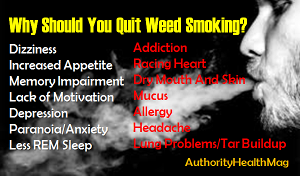 Why Should You Quit Pot Smoking