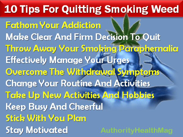Tips For Quitting Smoking Weed