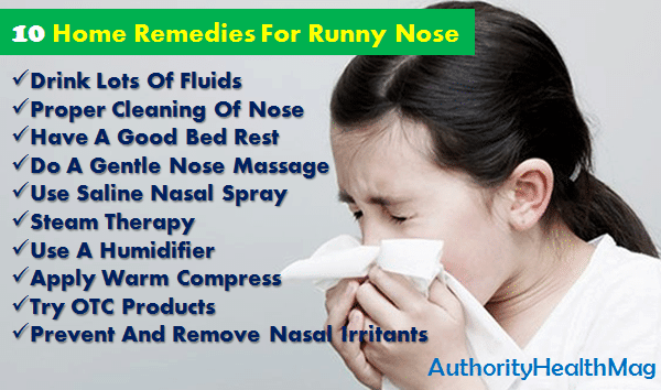 10 Home Remedies For A Leaky Nose