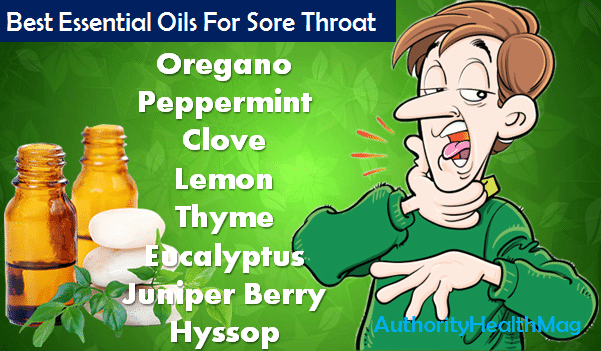 Best Essential Oils For Sore Throat And Strep Throat
