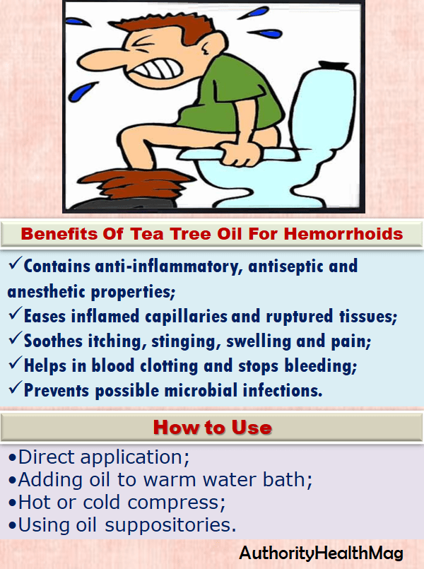 Benefits Of Tea Tree Oil For Piles